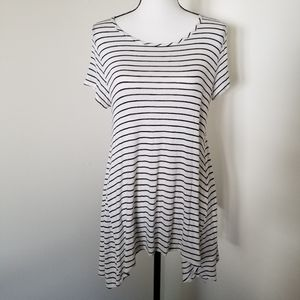 Striped Asymmetrical Tee